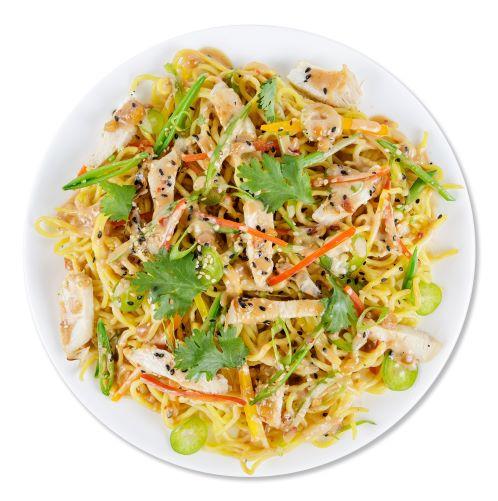 Photo of Spicy Sesame Peanut Noodles & Chicken